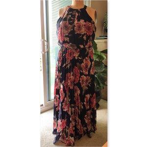 Bisou Bisou floral print tie neck maxi dress 16